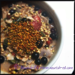 Sprouted buckwheat superfood breakfast