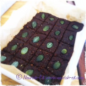 Superfood Choc Slice - a great way to get a whole host of superfoods in.