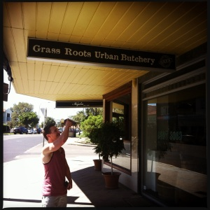 My sort of butcher! Grub - Organic, grass fed happy animals. We got a full tour of the place :)